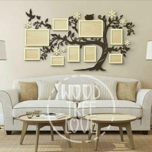 Custom Family Tree Wood Family Tree 57x32 inch