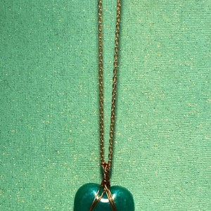 Wire-wrapped Heart Pendant Necklace