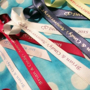 10 Funeral Personalized Ribbons 3/8 inches wide (unassembled)