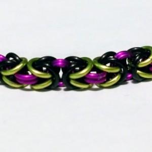 Maleficent bracelet byzantine chainmaille