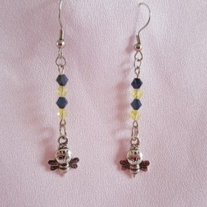 Earrings - Bicone - Happy Little Bee