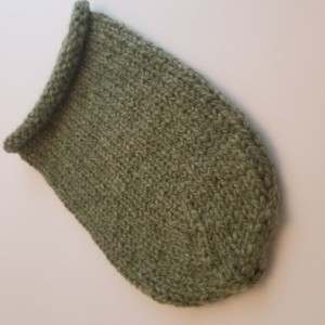 Hand Knitted Baby Cocoon - Heather Green