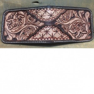 Two Tone Floral Front Pocket Wallet