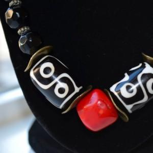 E3- Dzi bead necklace