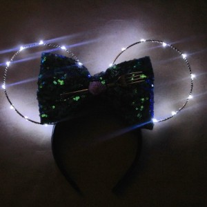 Light up Little Mermaid Theme Minnie Mouse Ears