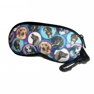 Circle of Dachshunds Neoprene Eyeglass Case