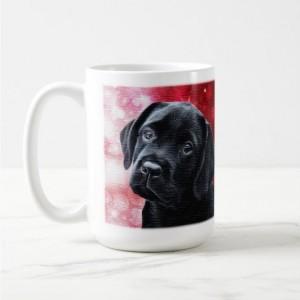 Black Lab Mug - Labrador Mug - Labrador Gifts - Lab Dog 5- Black Lab Painting - Lab Mom - Labrador Retriever - Black Dog Art - Black Lab Art