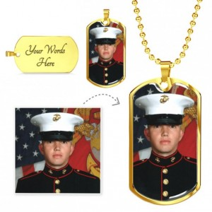 Personalized Military Dog Tags | Military Chain | Dog Tag For Service Members | Luxury Military Jewelry Gift| Army, Air Force, Navy, Marines