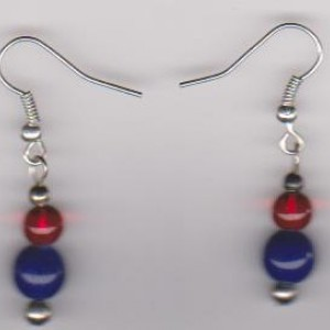 Patriotic Mood Pierced Earrings