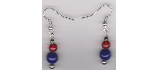 Patriotic Mood Pierced Earrings
