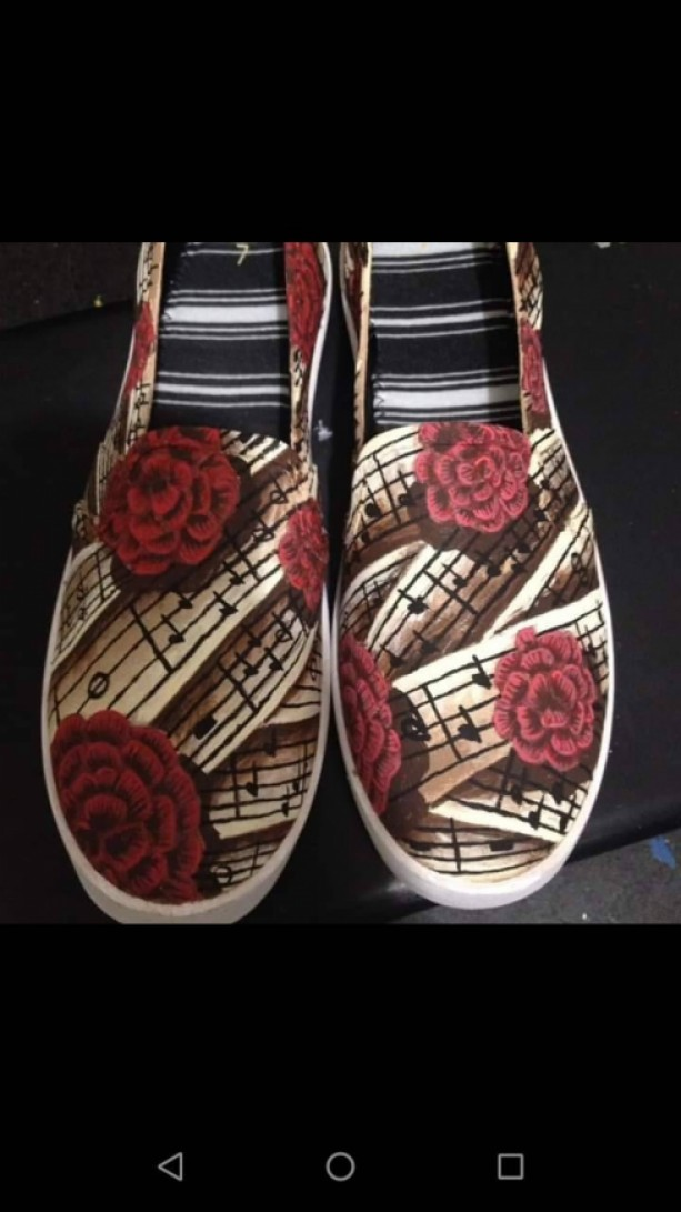 Rose and Music Shoes
