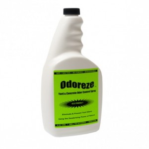 ODOREZE Natural Yard & Concrete Odor Control Spray: 32 oz. Concentrate Treats 4,000 Sq. Yards