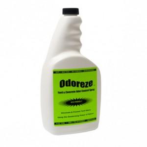 ODOREZE Natural Yard & Concrete Odor Control Spray: 32 oz. Concentrate Treats 4,000 Sq. Yards