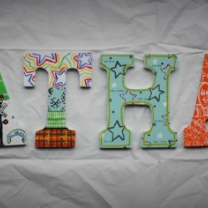 Hand Painted Train Wall Letters -- Price Per Letter