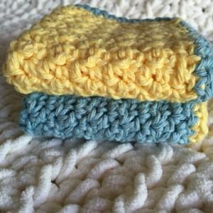 Hand Crochet Cotton Dish/Wash Cloths