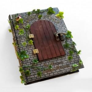 The Secret Garden book hideaway box/sculpture. Unique & hand decorated