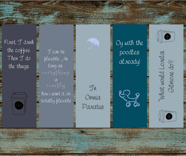 Gilmore Girls Bookmarks