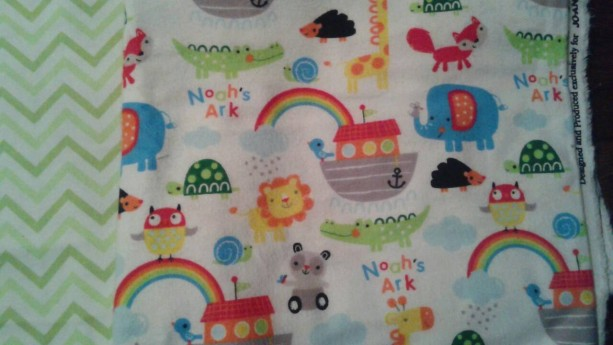One Noah's Ark PERSONALIZED  baby name blanket  Large Flannel baby boy Blanket nursery baby girl  toddler  swaddle