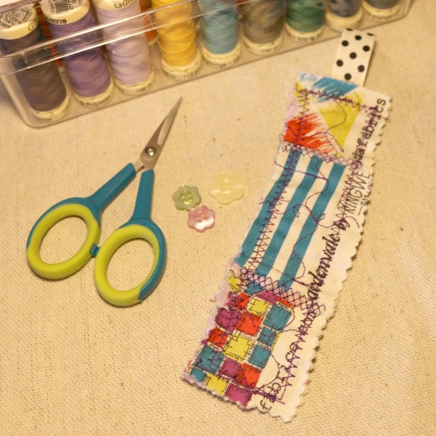 Shabby Quilted Bookmark