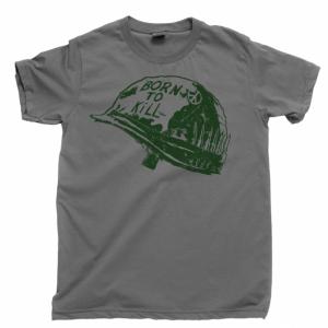 Full Metal Jacket Men's T Shirt, Born To Kill Vietnam War Movie Stanley Kubrick Unisex Cotton Tee Shirt