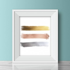Mixed Metals Swatch Print - 8x10