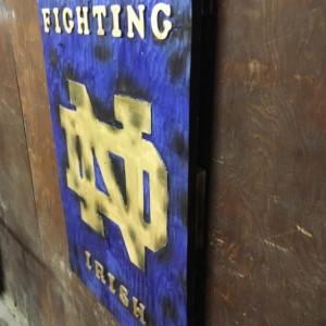 Wood Notre Dame Sign