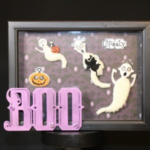 "Halloween Decoration ""Boo Family"" Shadow Box"