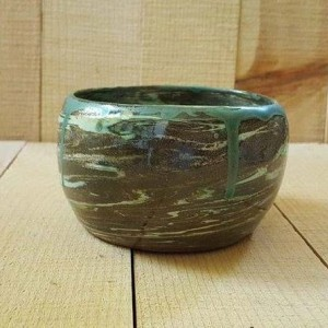 Hand Thrown Marbled Planter, Indoor or Outdoor Planter Pot