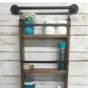 Farmhouse Bathroom Shelf-Farmhouse Decor-Bathroom Shelving-Rustic Wood Shelf-Rustic Home Decor