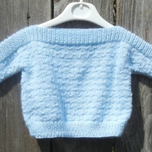 Hand Knit Newborn Sweater, Knitted Baby Boy Pullover, Sweater for Infant 0-6 Months, Knitted Baby Sweater, All Handmade, Ready to Ship