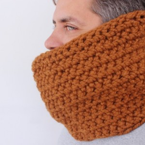 SALE - Unisex Crochet Circle Scarf in Butterscotch - Cowl Scarf - Neckwarmer - Ready to Ship