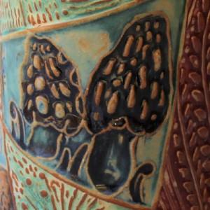 Morel Mushroom Pottery Mug Coffee Cup Handmade Stoneware Tableware Microwave and Dishwasher Safe 12oz