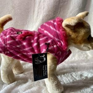 "Pink Stripe Hoodie XXS 13-14"" girth"