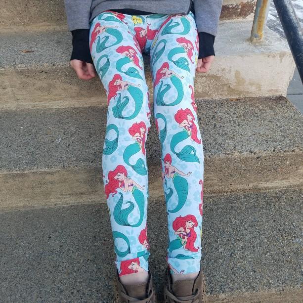 Little Mermaid Ariel adult women's teens leggings | women's Disney leggings | women's leggings | women's clothing gifts | teen leggings