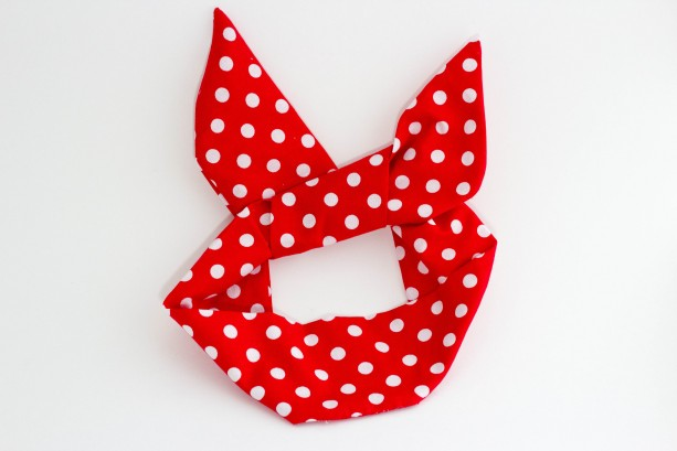 Red and White Polka Dot Wire Headband ,Free Shipping, Rockabilly Style, Rockabilly inspired, Handmade