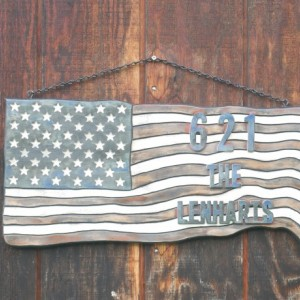 Small Personalized American Flag