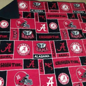 College Team Fleece Stadium Blankets: Nebraska, Alabama, Washington, or Custom Order