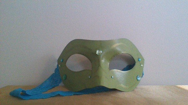 """Green Goddess"" Cosplay/Masquerade Mask"