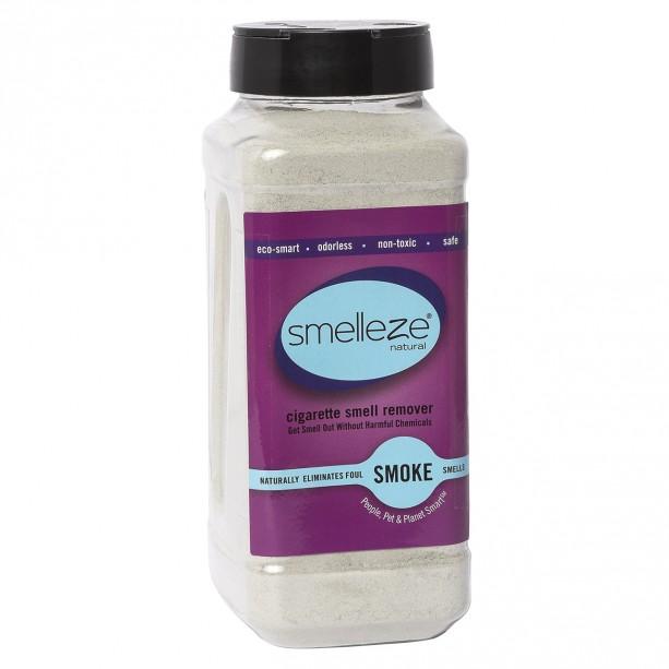 SMELLEZE Eco Cigarette Smell Removal Deodorizer: 50 lb. Granules Destroys Smoking Stink