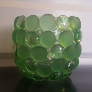 Glass Bead Candle Holder- Single