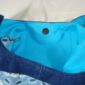 HOBO BAG PURSE/Over The Shoulder CrossBody Tie Dyed and Jean Tote Bag