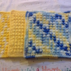 Set of 3 Cotton Dish Cloths