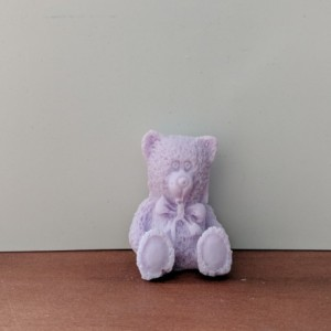 Teddy Bear Decorative Soap  - set of 8 - Purple