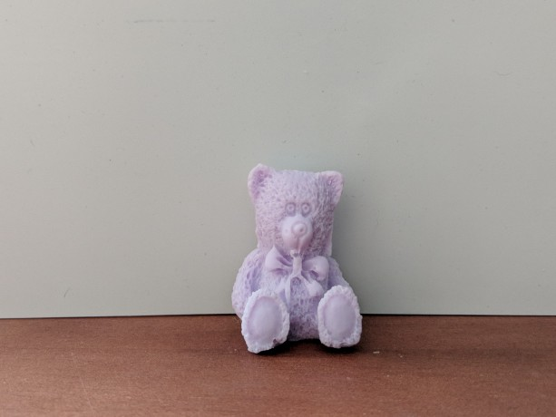 Teddy Bear Decorative Soap  - set of 8 - Purple