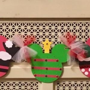 Mickey Christmas Banner