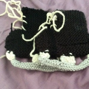 Knit Hockey Skate Booties