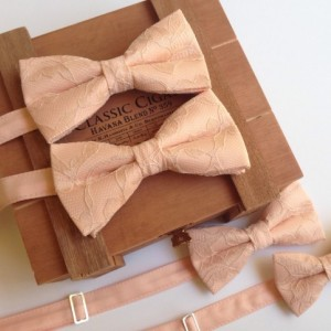 Dusted Peach Bow Tie - Wedding Bow Tie - Adult Bow Tie - Kid's Bow Tie - Children's Bow Tie - Light Peach Bow Tie - Vintage Peach