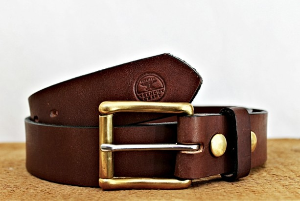 Working Man's Quality Leather Belt with Interchangeable Buckle