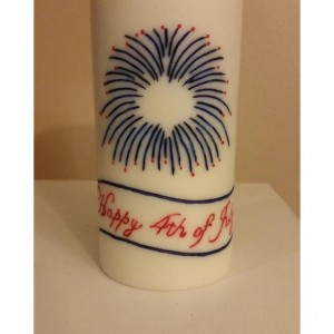 "3x6 ""Happy 4th of July"" Pillar Candle"