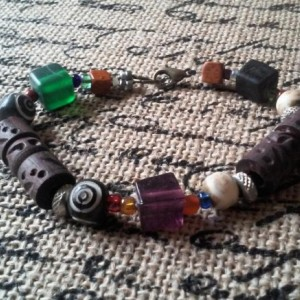 Tribal Beaded Black Hemp Bracelet